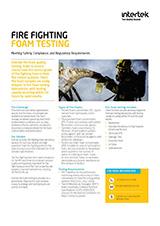 Caleb Brett Ghana Fire Foam Testing Services brochure