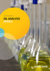 Caleb Brett Africa Oil Analysis Services brochure