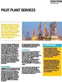 Pilot Plant Services Brochure (PDF)