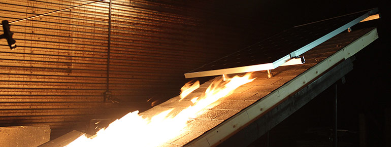 Photovoltaic Panel And Module Fire Resistance Testing
