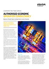 Authorised Economic Operator (AEO) brochure cover